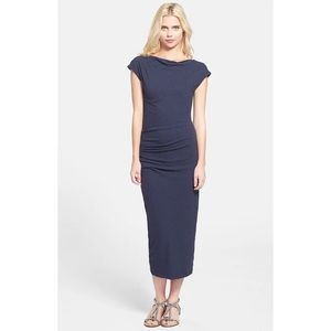 James Perse Sleeveless Tucked Midi Dress WMU6791
